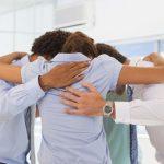 business huddle