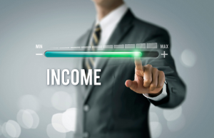 Image of a businessman generating income