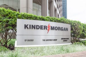 Image of a sign at the Kinder Morgan headquarters
