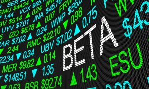 Image of a board comparing stock prices and beta