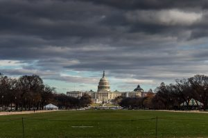 Image of storm clouds forming over Washington, D.C.