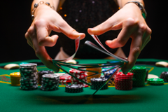 Image of casino tokens and cards