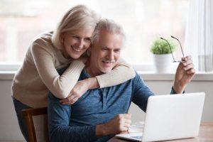 Image of a happy senior couple