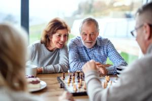 Image of seniors playing chess